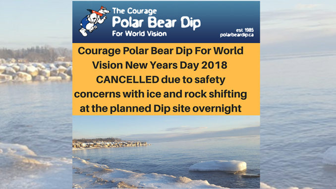 Oakville's Annual Polar Bear Dip Cancelled
