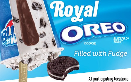 Royal Oreo Cookie Blizzard