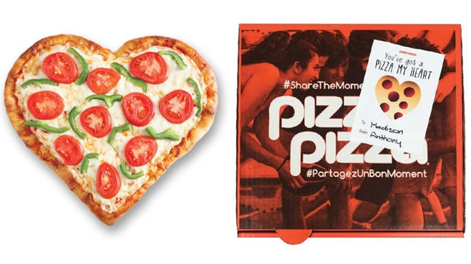 Pizza Pizza Bakes Up Heart-Shaped Pizzas For 2018 Valentine's Day