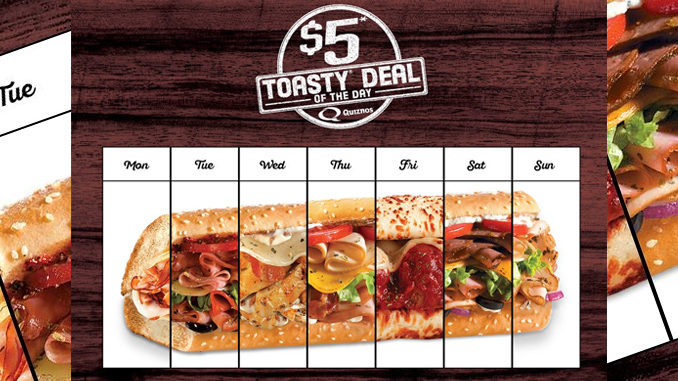 Quiznos Canada Brings Back $5 Toasty Deal Of The Day