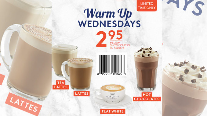 Second Cup Launches Warm Up Wednesdays Promotion