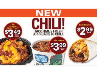 TacoTime Canada Serves Up New Chili Menu