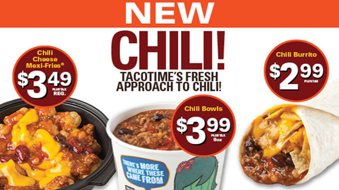 TacoTime Canada Serves Up New Chili Menu
