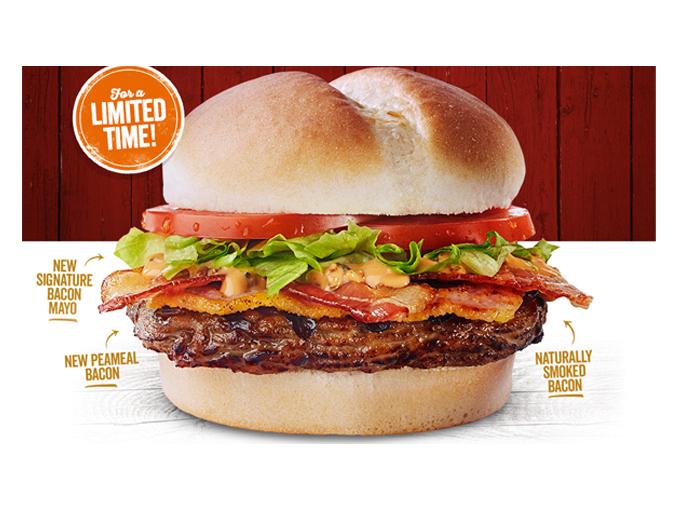 The Bacon Bacon Burger Returns To Harvey's With New Bacon Mayo
