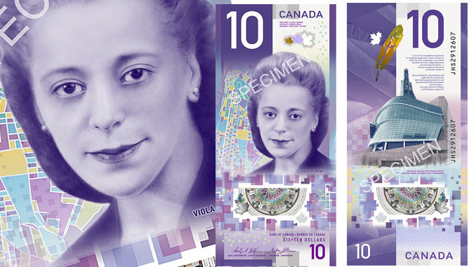 New $10 bill unveiled featuring civil rights activist Viola Desmond