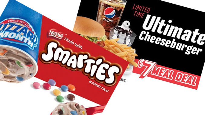Smarties Blizzard Is The Dairy Queen Canada The Blizzard Of The Month For March 2018