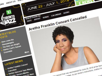 Aretha Franklin Cancels Toronto Jazz Festival Performance On Doctor's Orders