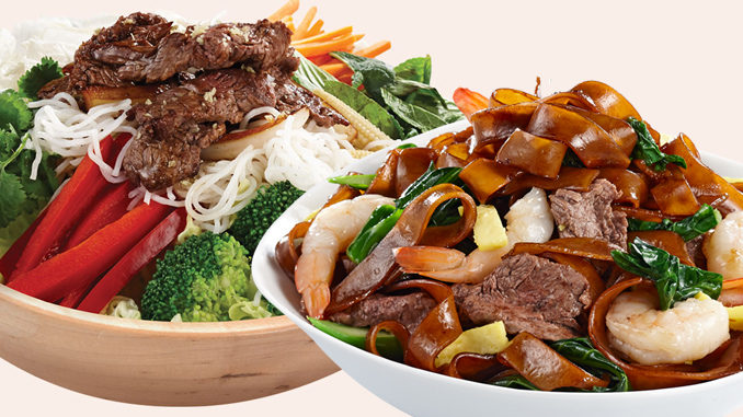 Thaï Express Serves New Lemongrass Beef Bowl And Surf 'n' Turf Pad See Ew