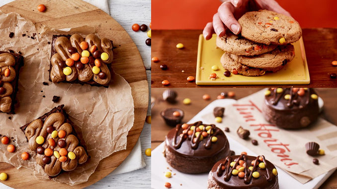 Tim Hortons Unveils New Mini Reese's Pieces Cookie, Donut, And Brownie