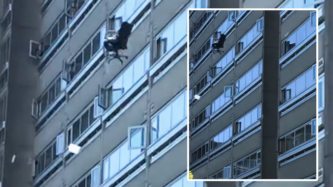 Man Throwing Furniture From 19th Floor
