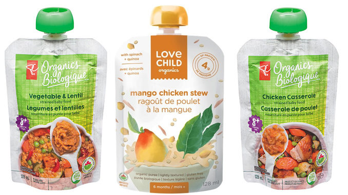 Select Love Child Organics And PC Organics Baby Food Pouches Recalled