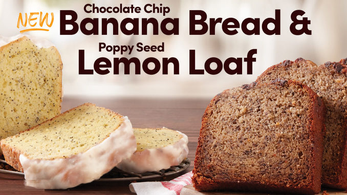 Tim Hortons Bakes Up New Chocolate Chip Banana Bread And Poppy Seed Lemon Loaf