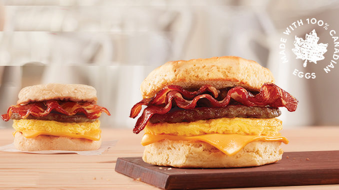 Tim Hortons Introduces New Sausage & Bacon Hot Breakfast Sandwich