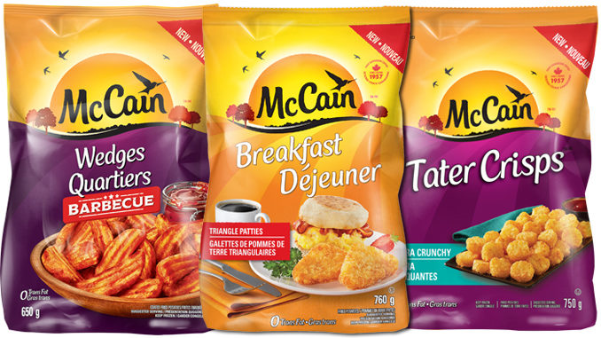 McCain Introduces New Potato Triangle Patties, Tater Crisps and BBQ Wedges