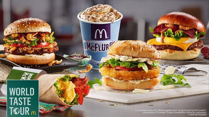McDonald's Canada Launches World Taste Tour Featuring 5 New Globally-Inspired Menu Items