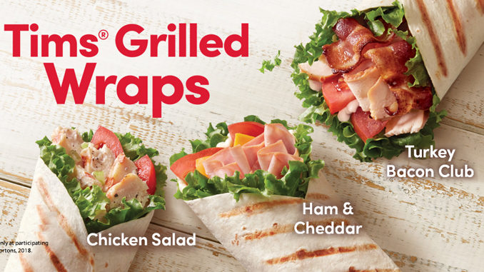 Tim Hortons Introduces New Tims Grilled Wraps