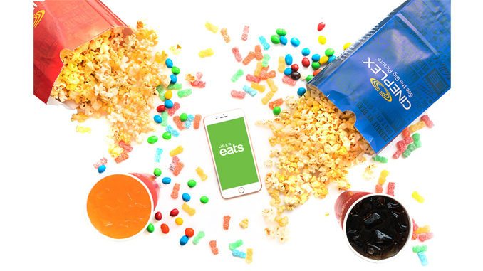Uber Eats Is Delivering Cineplex Popcorn In Canada