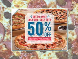 Domino's Canada Is Offering 50% Off All Pizzas Ordered Online Through July 15, 2018