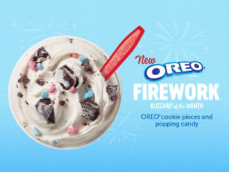New Oreo Firework Blizzard Is The Dairy Queen Canada Blizzard Of The Month For July, 2018