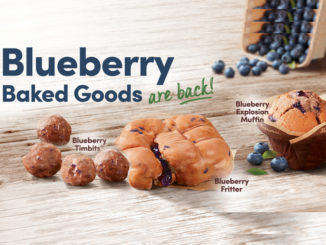 Tim Hortons Welcomes Back Blueberry Baked Goods Featuring The Blueberry Fritter
