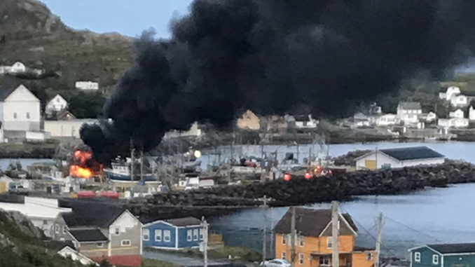 'Cold Water Cowboys' Longliner 'Sebastian Sails' Catches Fire In Twillingate, N.L.