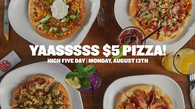 $5 Individual Pizzas At Boston Pizza On August 13, 2018
