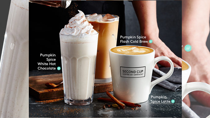 Second Cup Welcomes The 2018 Pumpkin Season