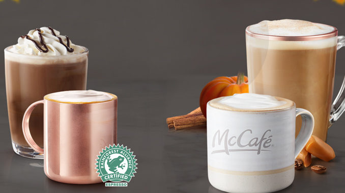 McDonald's Canada Offers Any Small Speciality Coffee For $2 Through October 7, 2018