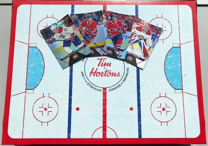 Special-edition hockey themed donut box