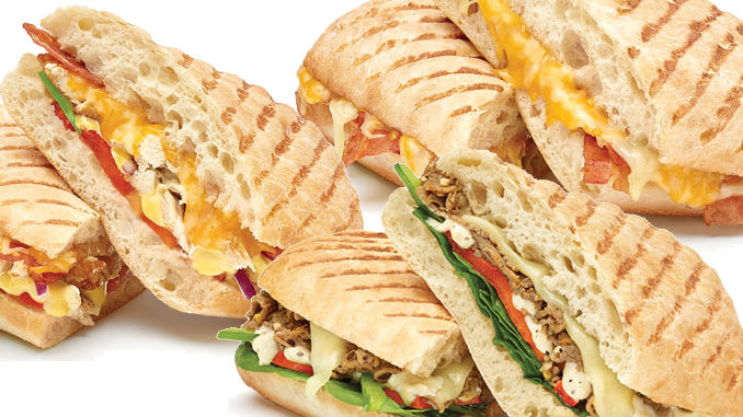 Subway Canada Introduces Three New Panini Sandwiches
