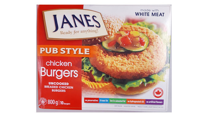 Janes Pub Style Chicken Burgers Recalled Due To Possible Salmonella Contamination