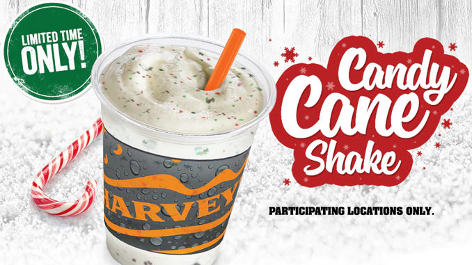 Harvey's Brings Back Candy Cane Shake For 2018 Holiday Season