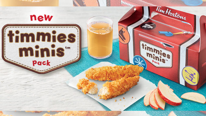 Tim Hortons Introduces New Timmies Minis Kids Menu