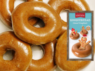 Gingerbread Glazed Doughnuts Coming To Krispy Kreme Canada On December 19, 2018