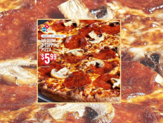 Domino's Canada Serves Medium 2-Topping Carryout Pizzas For $5.99 Each Through January 27, 2019