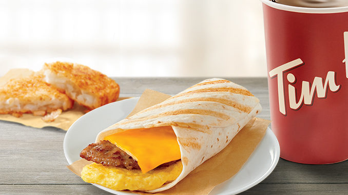 Tim Hortons Introduces New Sausage Wrap Snacker