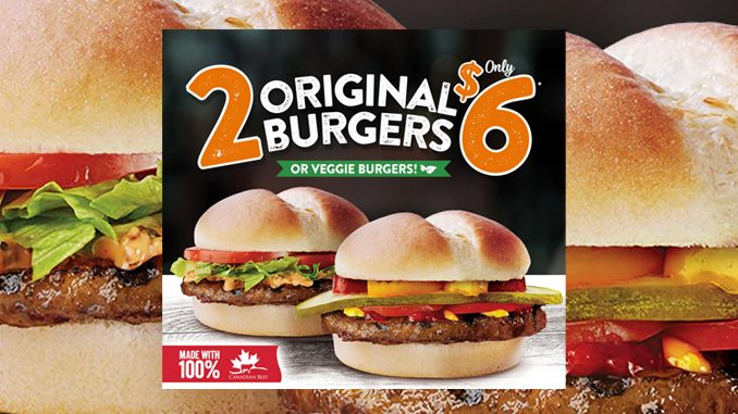 Get 2 Original Burgers For $6 At Harvey's Through March 17, 2019