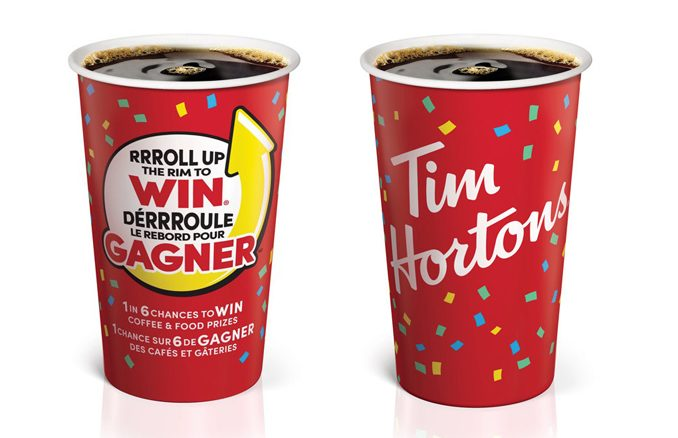 Roll Up The Rim To Win Returns To Tim Hortons On February 6, 2019