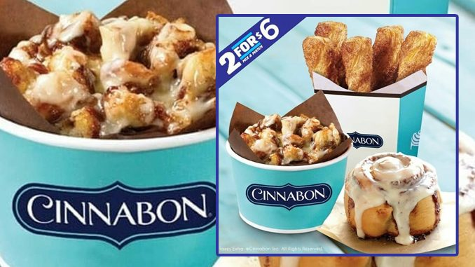 Cinnabon Canada Offers 2 For $6 Mix And Match Deal