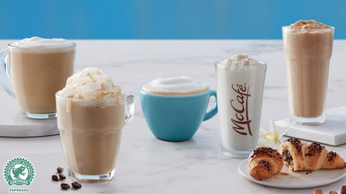 McDonald's Canada Offers Any Small McCafé Specialty Beverage For $2 From March 11 Through March 31, 2019