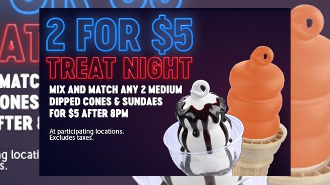 Dairy Queen Canada Launches 2 For $5 Treat Nights