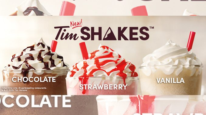 Tim Hortons Is Selling New Milkshakes In The US