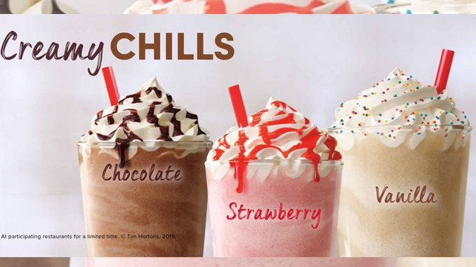 Tim Hortons Introduces New Creamy Chills