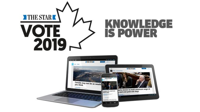 Toronto Star Offers Free Digital Access To Post-Secondary Students Through October 31, 2019