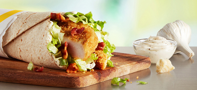 Chicken Caesar McWrap