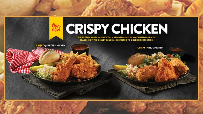 Swiss Chalet Welcomes Back Crispy Chicken