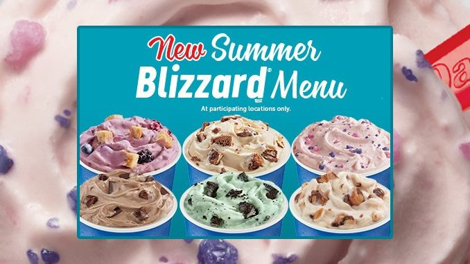 Dairy Queen Canada Unveils New 2019 Summer Blizzard Menu