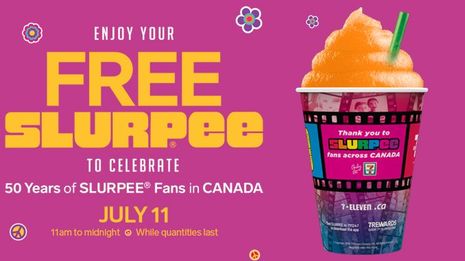 Free Slurpee Event At 7-Eleven Canada On July 11, 2019