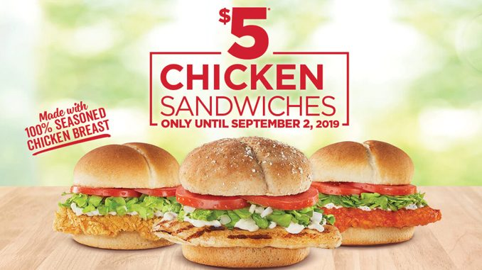 $5 Chicken Sandwiches At Harvey's Through September 2, 2019