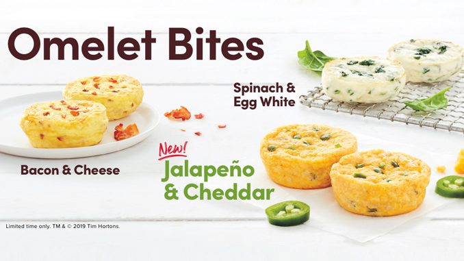 Tim Hortons Adds New Jalapeño And Cheddar Omelette Bites